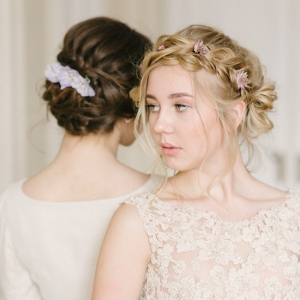 Boho vintage braided bridal updos