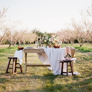 Orchard Elopement Sweetheart Table