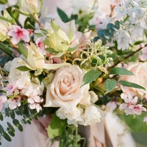 Romantic Spring Bridal Bouquet in Palest Pink
