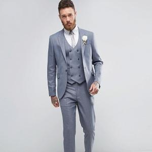 Slate Gray 3 Piece Suit