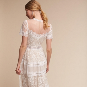 Tea Length  Saylor Wedding Dress Back