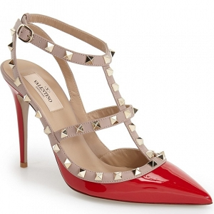 Valentino 'Rockstud' T-Strap Point Pump