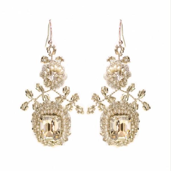 'Victorine' Crystal Bridal Earrings