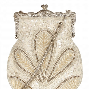 Vintage Beaded Bridal Clutch