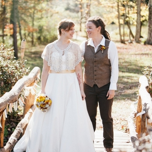 Two Fall Brides for a Rustic Wedding