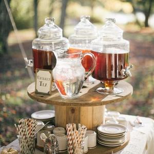 Tea Station for a Rustic DIY Fall Wedding