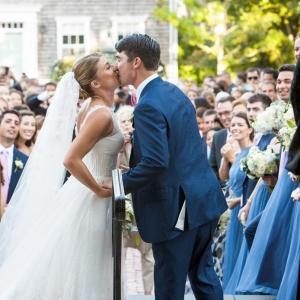 Post-ceremony shot at beautiful Nantucket wedding