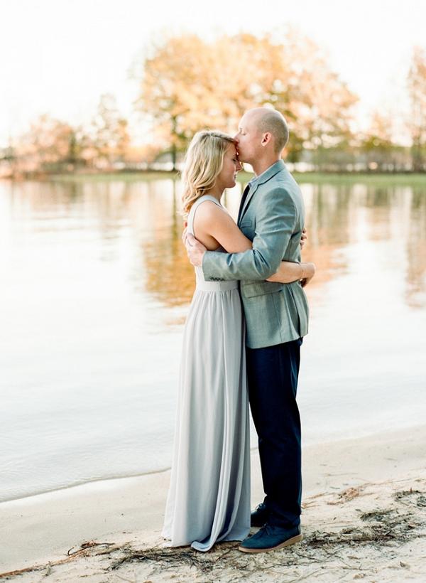 Romantic Jordan Lake Engagement
