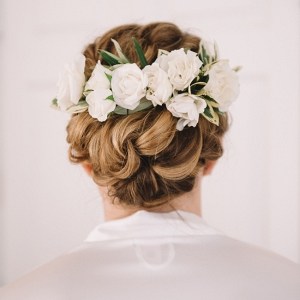 Spray Roses Add The Perfect Touch To This Up Do