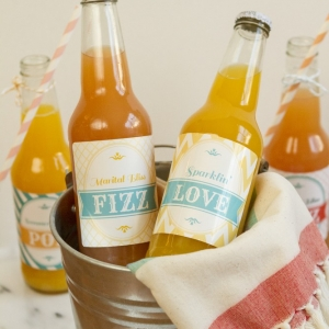 Custom Wedding Soda Labels