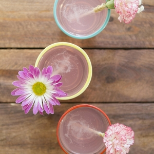 Create DIY Fresh Flower Drink Stir Sticks