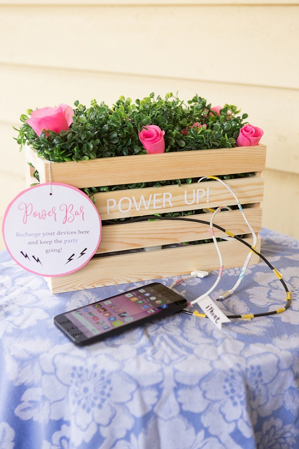 DIY Wedding Power Bar