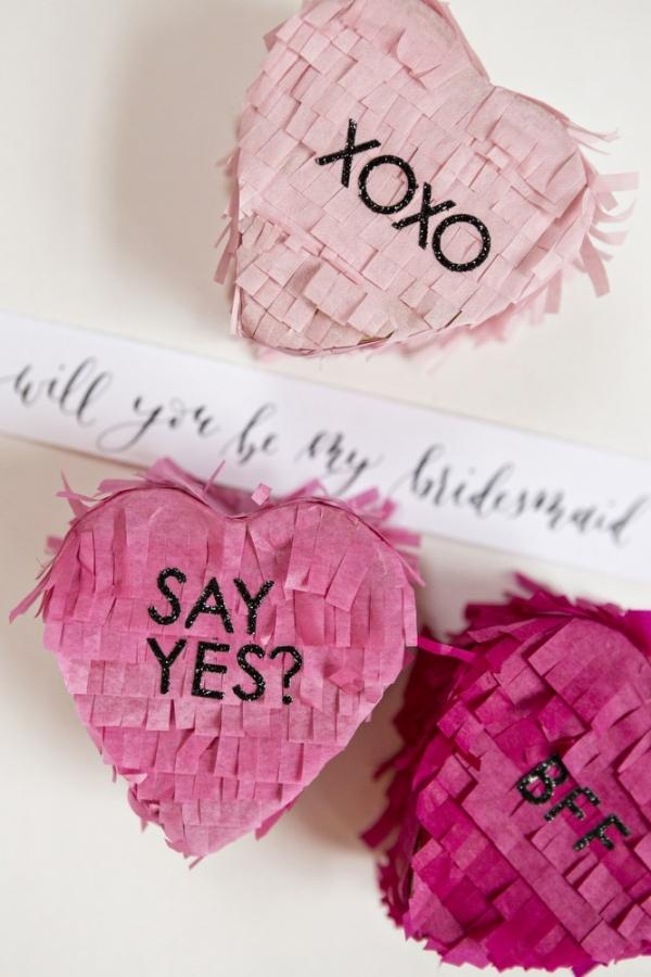 DIY Will You Be My Bridesmaid Pinata