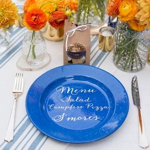 DIY Dinner Plate With Menu