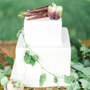 Organic White Cake With Vegetables