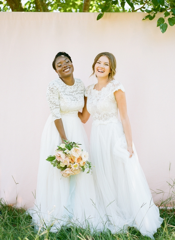 Two Brides In Lace