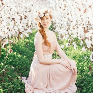 Bridal Portraits in Boone Hall Plantation's Cotton Field