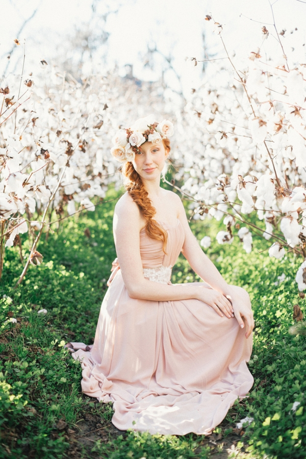 Bridal Portraits in Boone Hall Plantation's Cotton Field