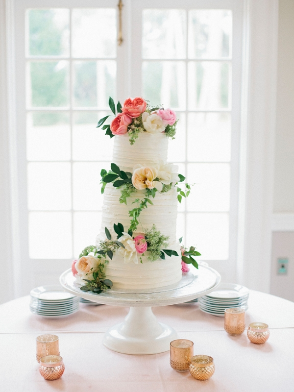 Wedding Cake Featuring Greenery