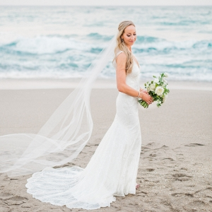 Romantic Sunset Beach Bridals