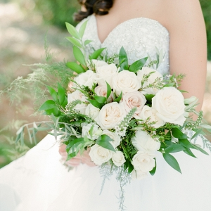 Wild Greenery And Rose Bouquet