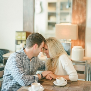 Intimate Coffee Shop Engagement in Florida