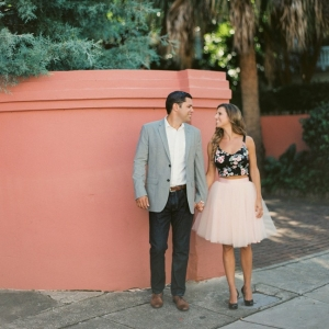 Vibrant Charleston Engagement Featuring a Tutu