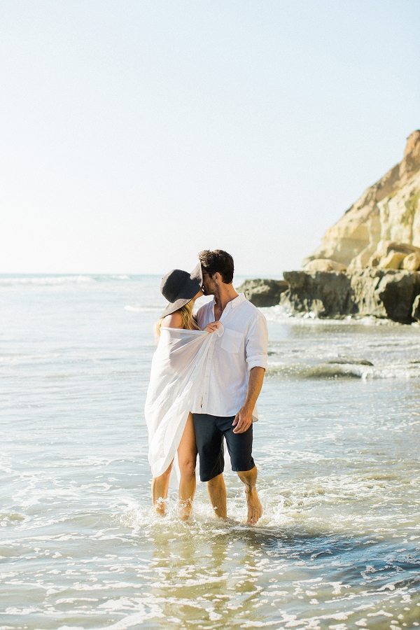 Beach Picnic Engagement Photos