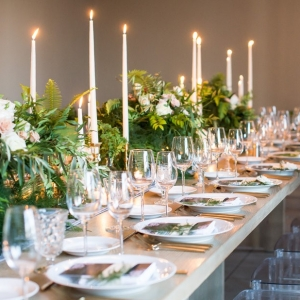 Modern Green and Gray Wedding Reception