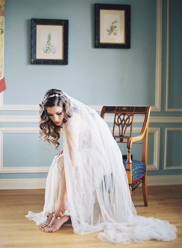 Romantic Bridal Portrait in Colorado Mansion