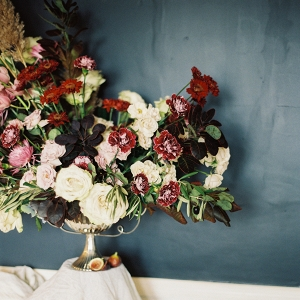 Mauve and Burgundy Centerpiece