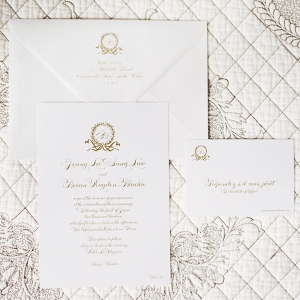 Traditional Gold Wedding Invitations