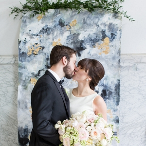 Handpainted Wedding Backdrop