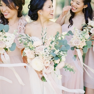 Windswept Blush Bridesmaids on Elizabeth Anne Designs