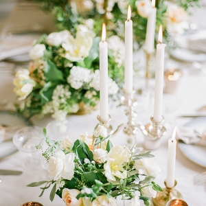 Pale Yellow and Green Centerpiece