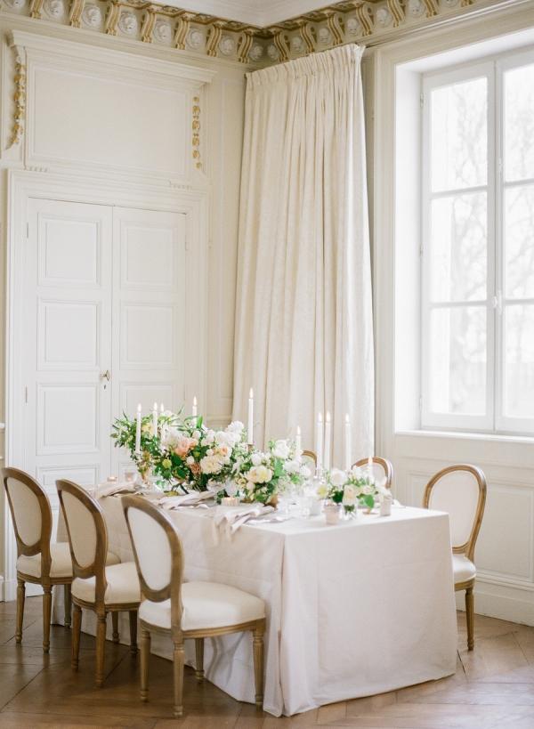 Elegant Wedding Table in White