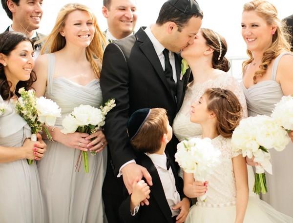 Pale Silver Wedding Party Attire