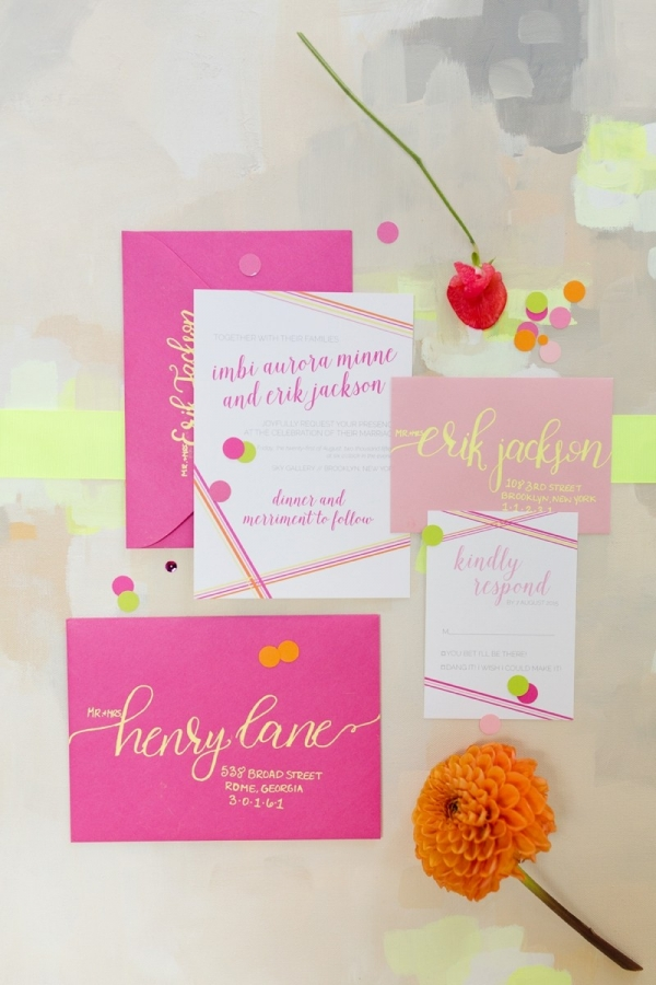 Neon Wedding Invitations
