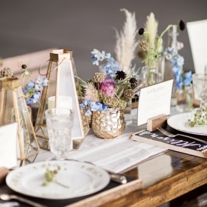 Eclectic table scape