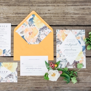 Marigold and Blue Boho Industrial Wedding Inspiration on Every Last Detail