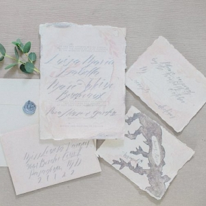 Calligraphy invitation suite on Every Last Detail