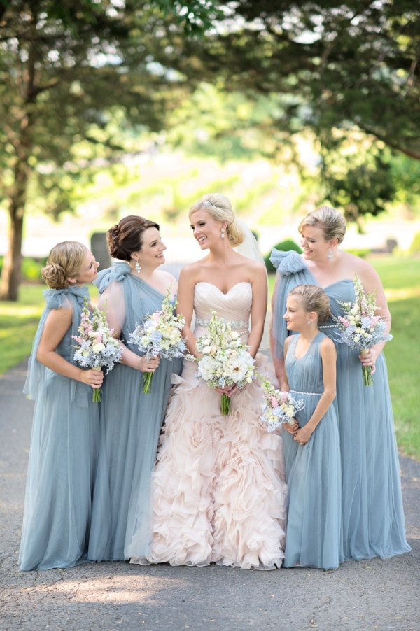 Romantic Blush Amp Blue Nashville Wedding