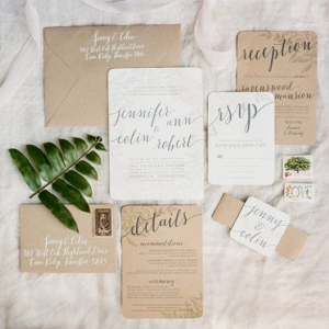 neutral invitation suite in romantic blush wedding from Every Last Detail