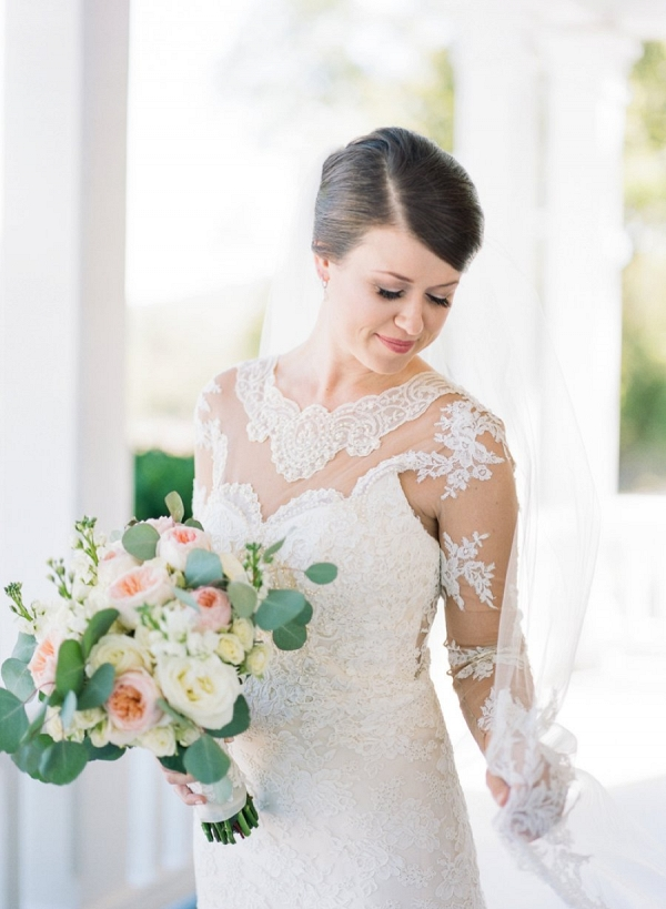 bride in romantic blush wedding from Every Last Detail