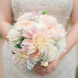 Blush and peach bouquet