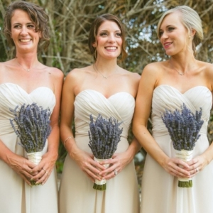 Lavender bridesmaid bouquets