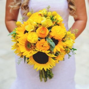 Yellow sunflower bouquet