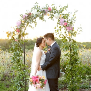 Floral arch for a garden ceremony