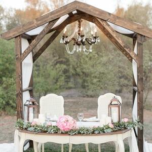 Sweetheart Table Under Chandelier