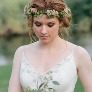 Arizona bride with floral crown